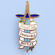 Load image into Gallery viewer, Fighting Invisible Battles Lapel Pin