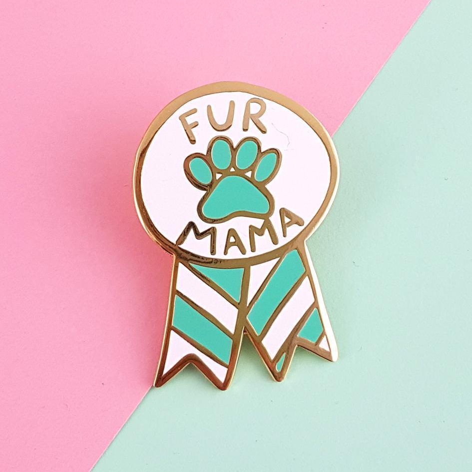 Fur Mama Lapel Pin