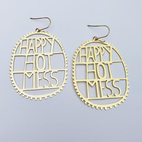 Happy Hot Mess Gold Earrings