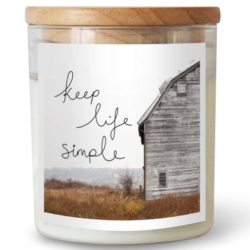 Keep Life Simple – Large Commonfolk Collective Candle