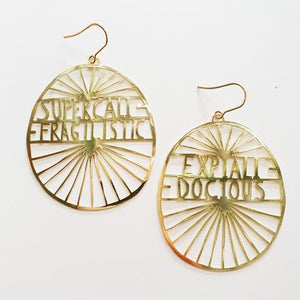 Supercalifragilistic Earrings