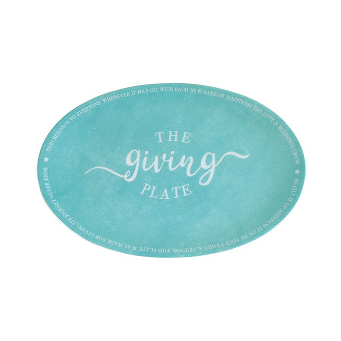 Teal Giving Plate