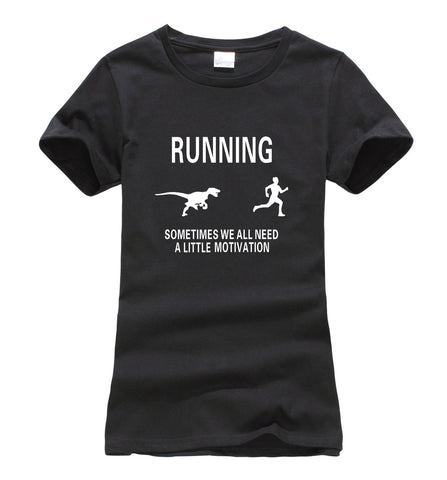 Funny Motivate Runners printed women's t-shirt