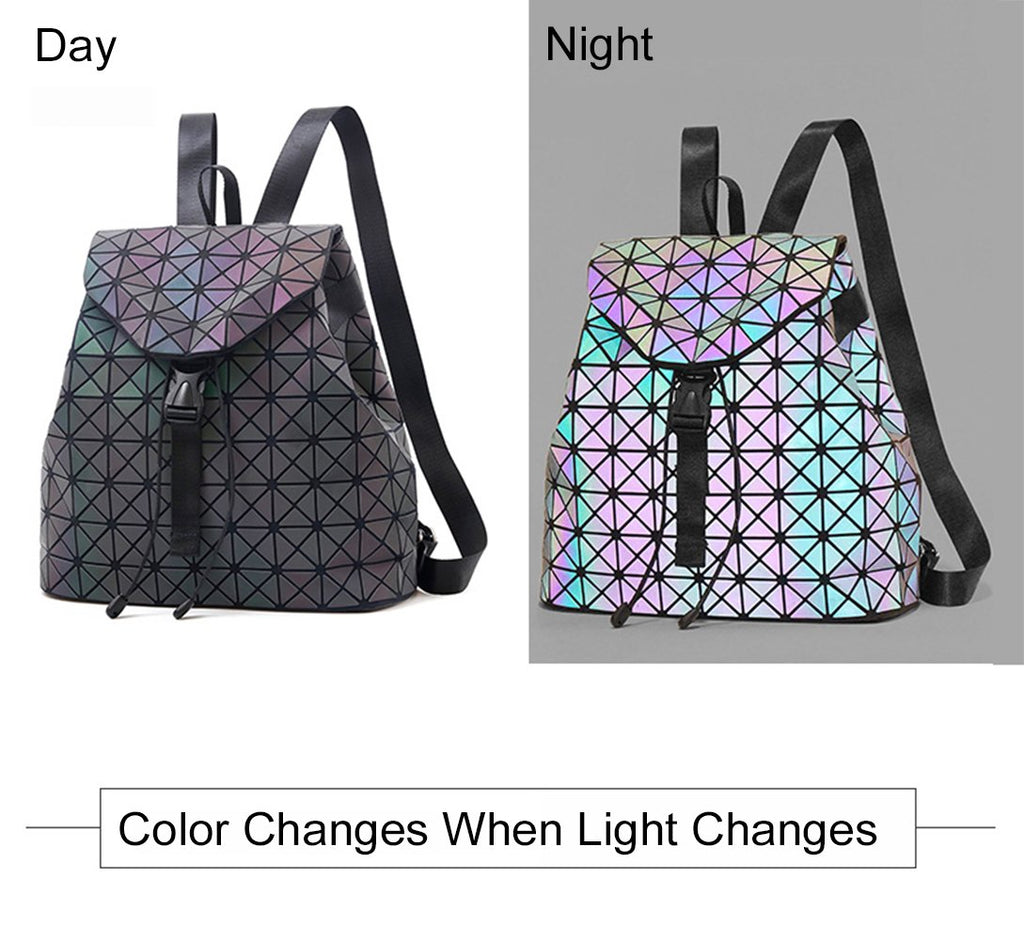 26d9f81568 ... Geometric Backpack Luminous Backpacks Holographic Reflective Bag Shard  Lattice Luminous Rucksack Lingge NO.6P ...