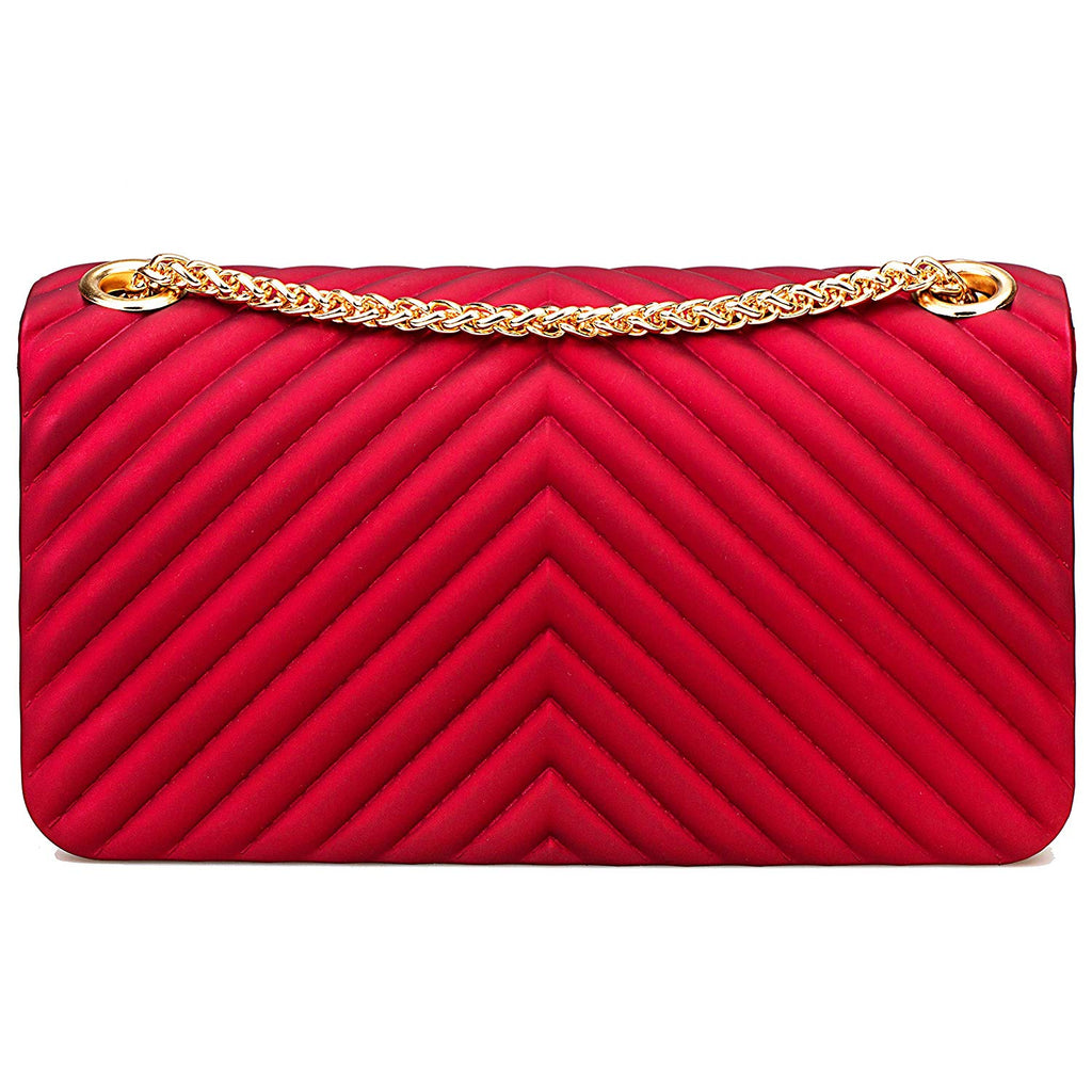 acb4c19407a7 ... Women Fashion Shoulder Bag Jelly Clutch Handbag Quilted Crossbody Bag  with Chain ...