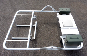 2 Bay Raft frame with ammo cans - R1