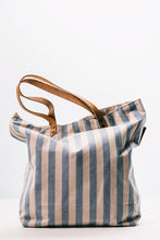 Load image into Gallery viewer, Blue Stripes Beach Bag