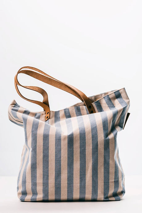 Blue Stripes Beach Bag