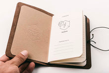 Load image into Gallery viewer, Leather Journal - Passport Size