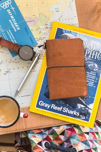 Leather Journal - Travel Size