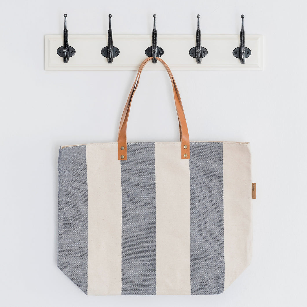 Wide Blue Beach Bag