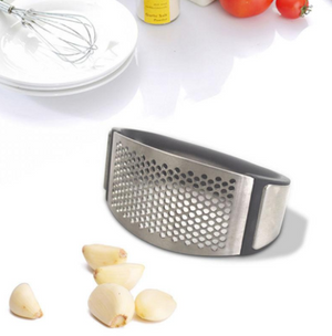 Stainless steel garlic presses