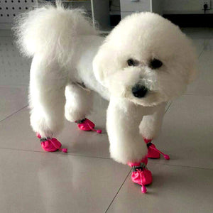 4pcs Waterproof & Anti-Slip Dog Shoes
