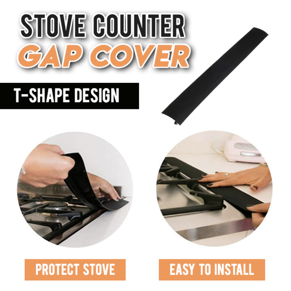 Silicone Stove Counter Gap Cover-(2 roots)