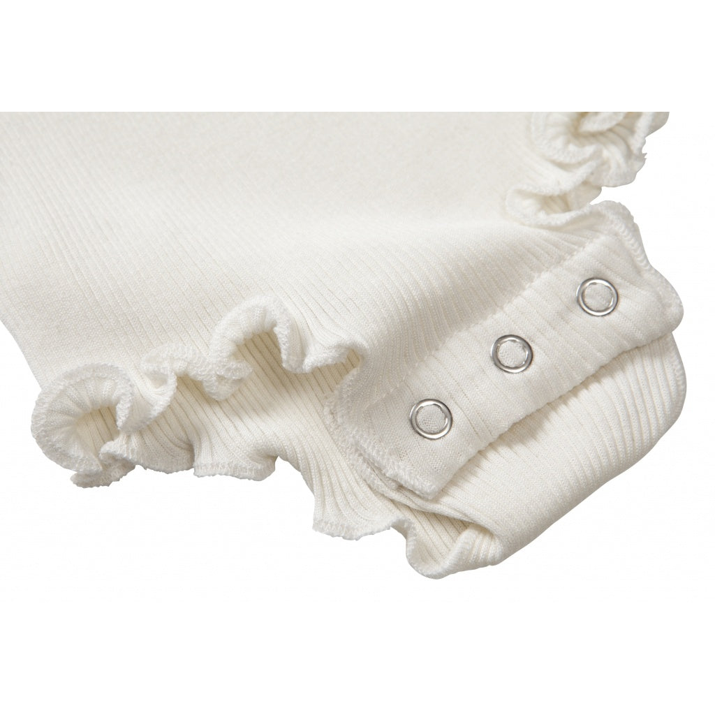 Silk frilled body Barcelona- Cream