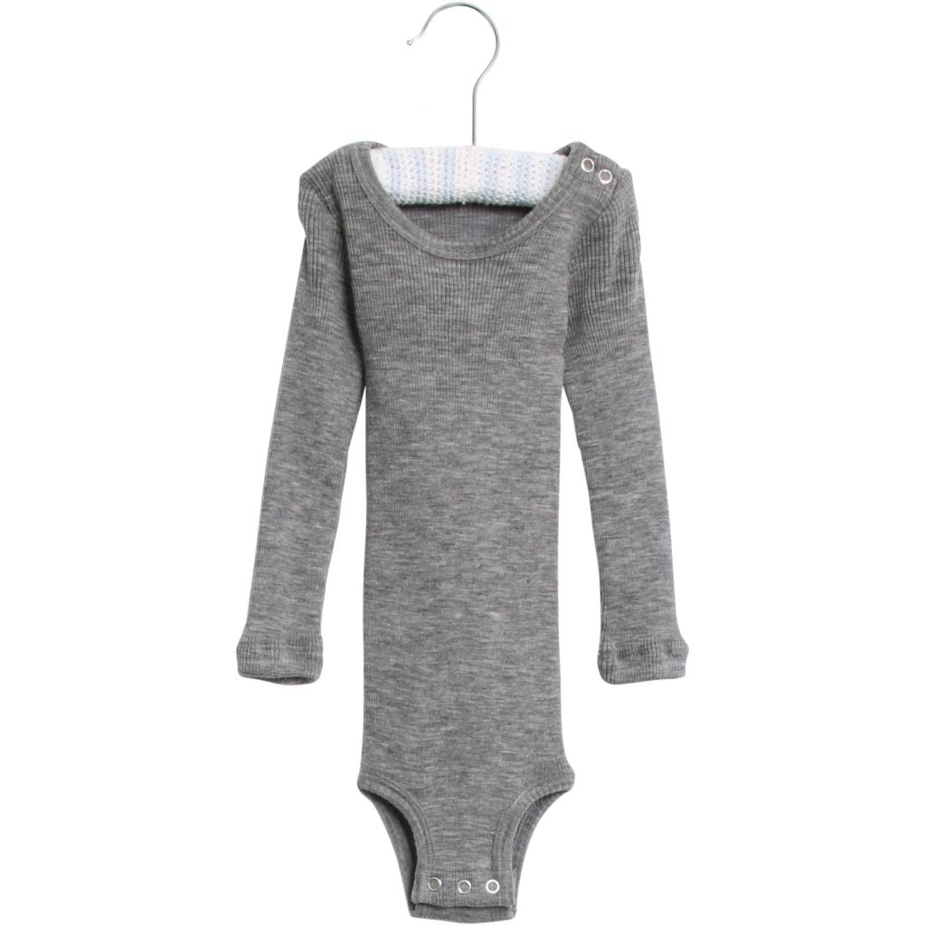 [50%OFF] Body wool rib melange grey