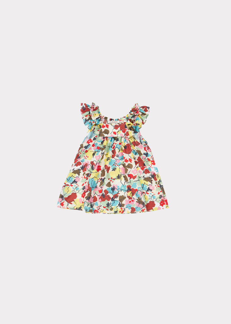 MULLOWAY BABY DRESS PAINTED FLOWER