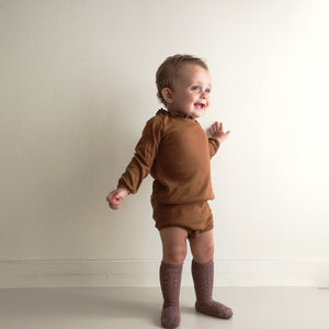 Organic cotton rompers-Ingva Amber