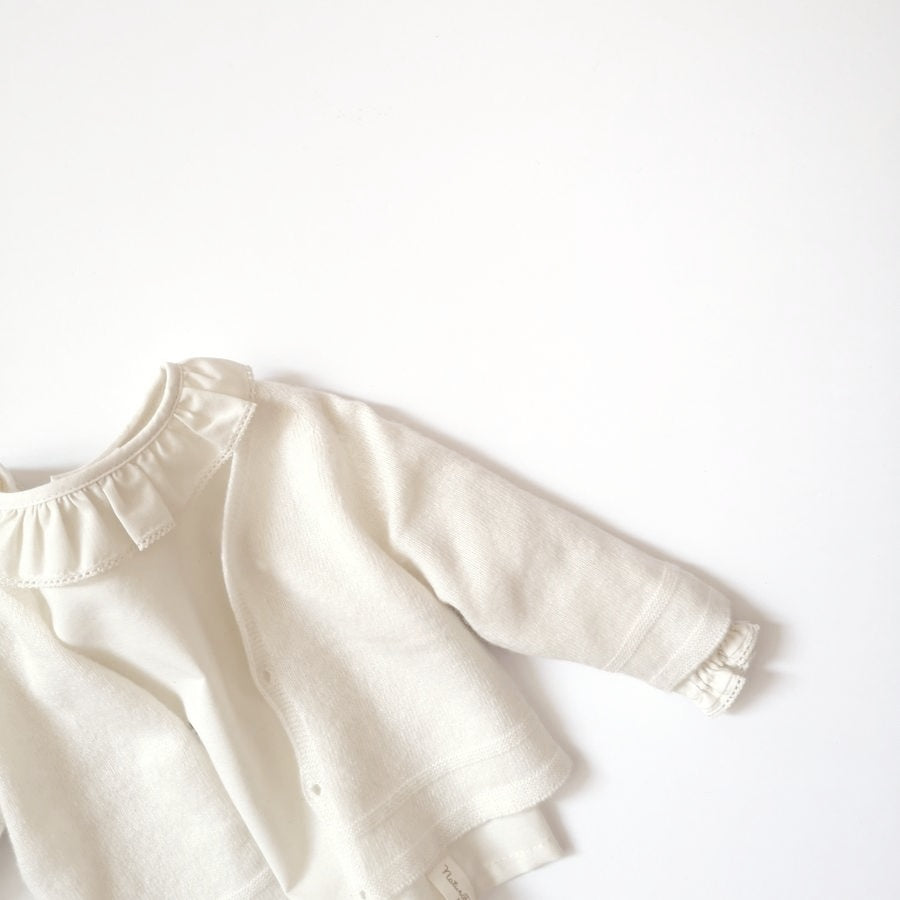 [60%OFF] Baby cardigan white