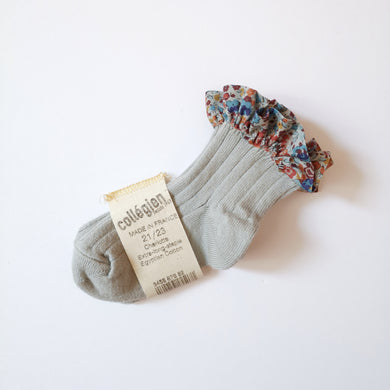 Liberty frilled short socks