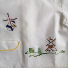 Load image into Gallery viewer, [Unworn] VINTAGE hand-embroidered smock (dead stock)
