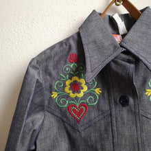 드 이미지 갤러리로 뷰어,[Unworn]  VINTAGE denim shirt 6Y (dead stock)