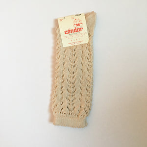 Openwork high socks