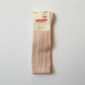SIDE openwork high socks