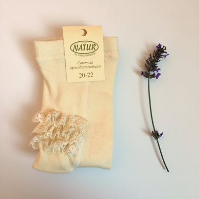 Organic Cotton tights with frills