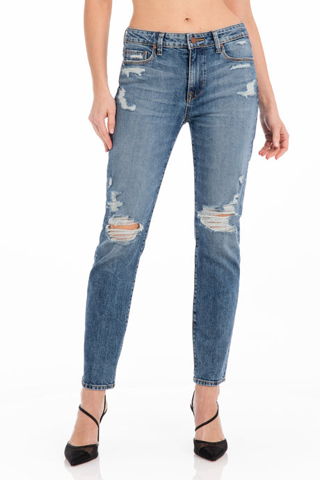 B(AIR) DENIM ROXANNE ANKLE WITH FRAYED HEM IN VINTAGE DUSK