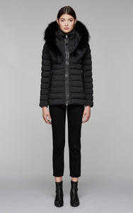 KADALINA-X light down jacket with fur trimmed collar
