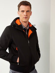 FULL ZIP HOODED BOMBER JACKET