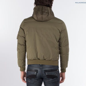 HOODED DOWN JACKET, OLIVE
