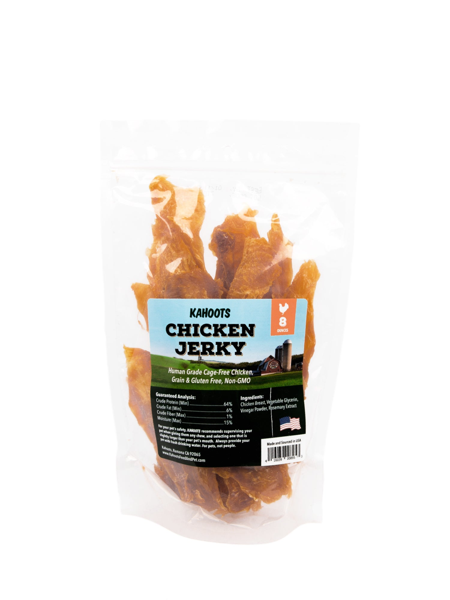 Chicken jerky treat for dogs and cats