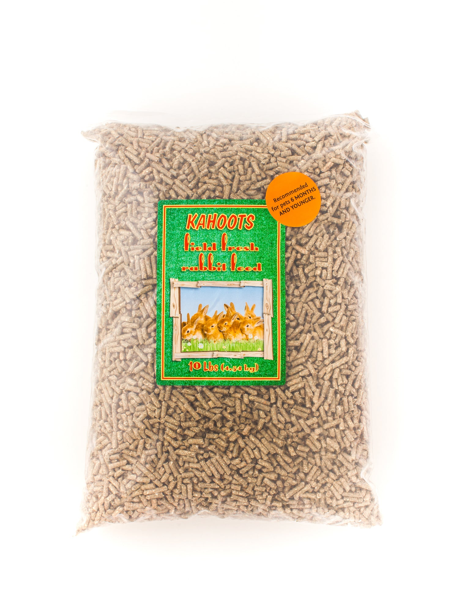 Rabbit food pellets in bag. 10lb