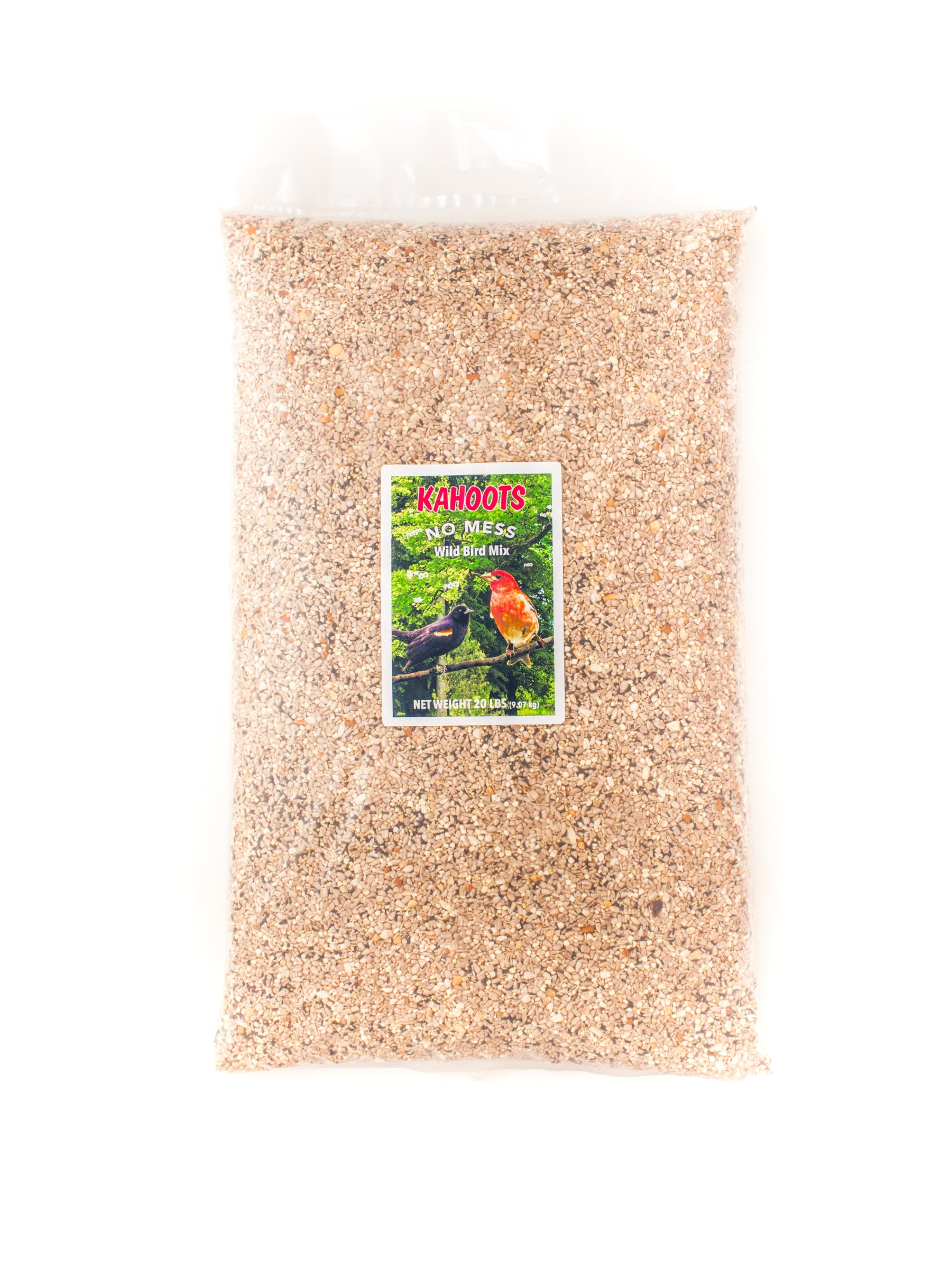 No mess wild bird seed. Mixed seeds without shells. 20lb