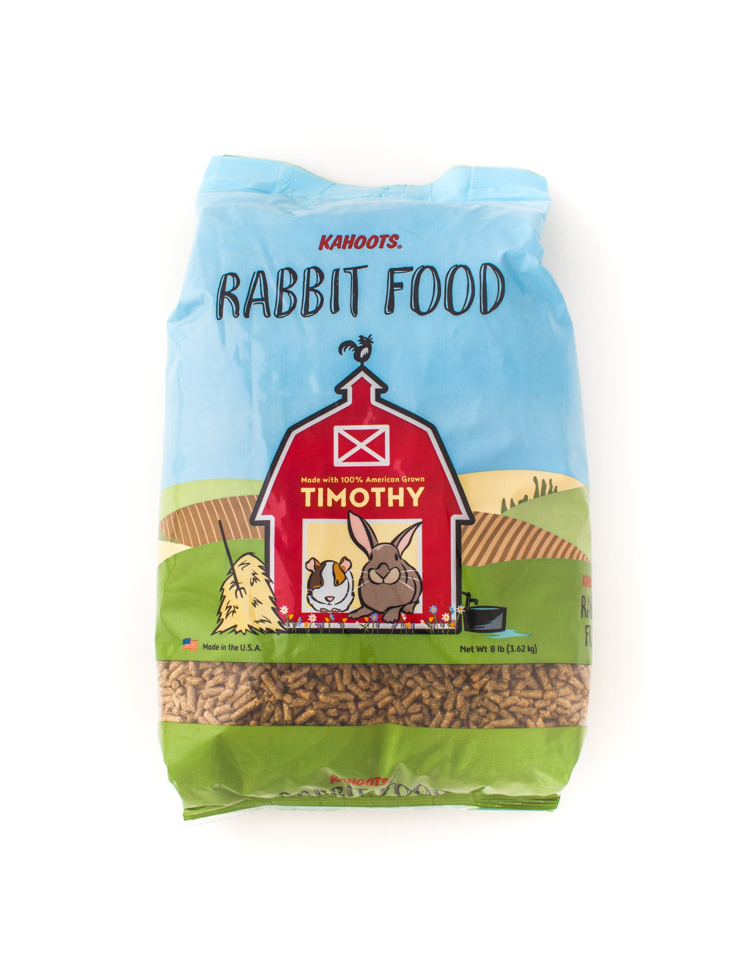 Rabbit food pellets in bag. 8lb