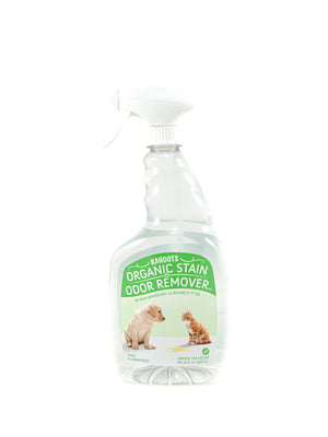 Kahoots stain and odor remover spray bottle. Green Tea scent. Green label