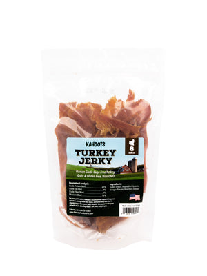 Turkey jerky treat for cats and dogs in bag