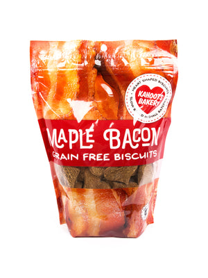Grain-free maple bacon dog biscuits