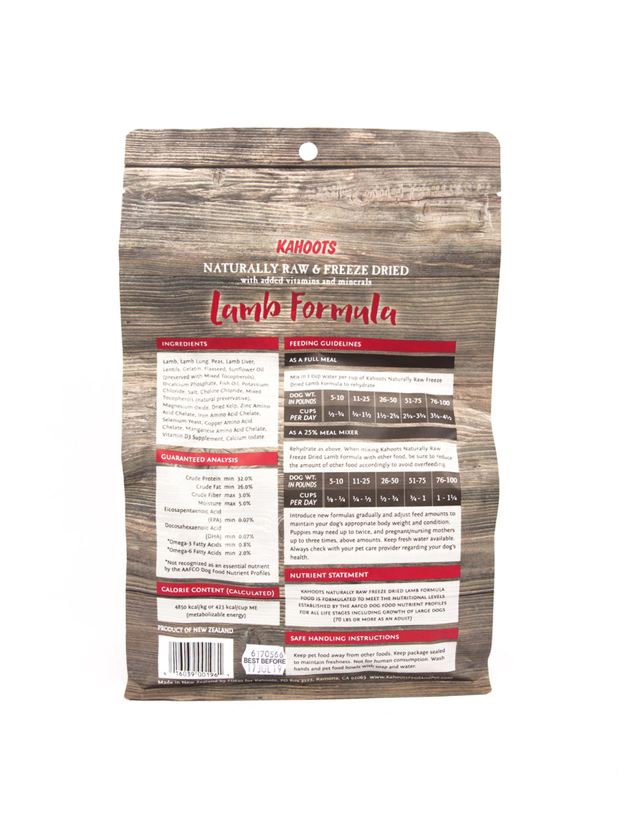 Freeze-dried Raw Lamb Formula