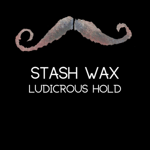 Man Beard 'Stash Wax Ludicrous Hold