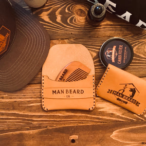 Man Beard Co Leather Card Wallet