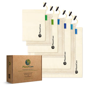 Save 20% - Premium Organic Cotton Produce Bags 7pc Set