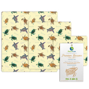 Beeswax Food Wraps: Endangered Sea Turtles Series - Limited Edition. Plus FREE online poster!
