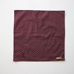 Burgundy Dot Chambray Pocket Square