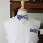 Chanukah Menorah holiday bow tie with Metallic Highlights