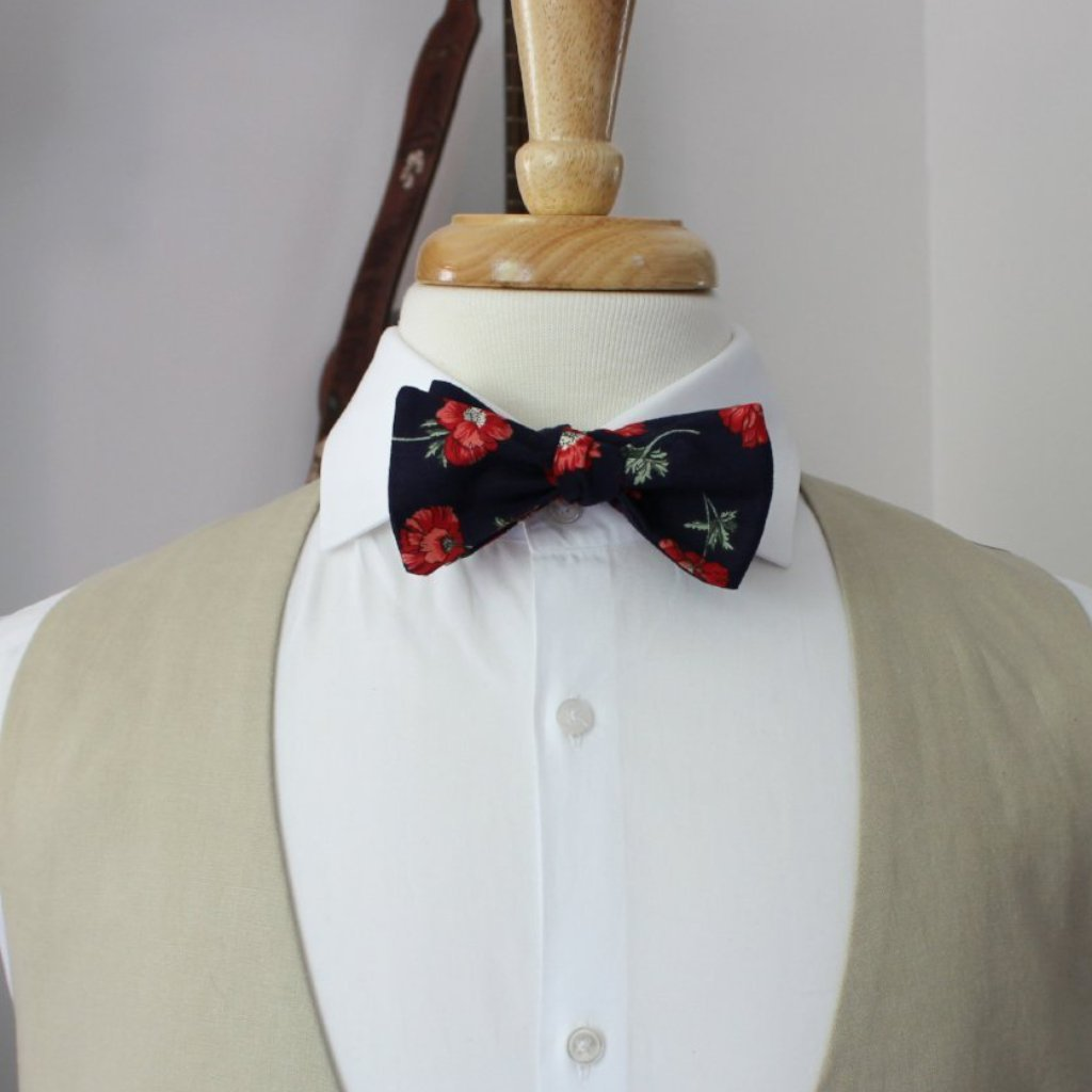 Poppy Fields Bow Tie
