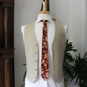 Antique Rose in Wine Necktie