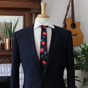 Poppy Fields Necktie